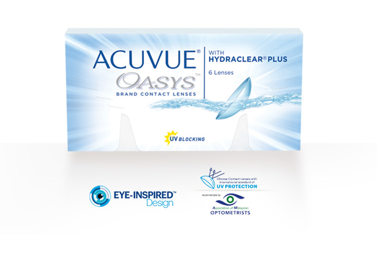 ACUVUE® OASYS 2-WEEK WITH HYDRACLEAR® PLUS